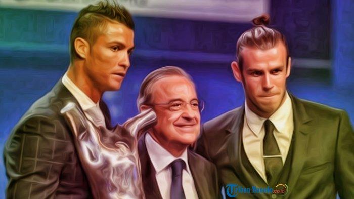 Cristiano Ronaldo, Florentino Perez dan Gareth Bale