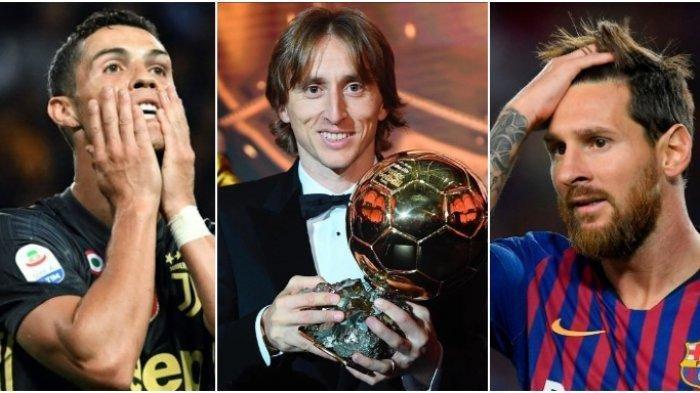 VIDEO Pemenang Ballon d'Or Sebelumnya Menyerahkan Trofi Bola Emas ke Lionel Messi