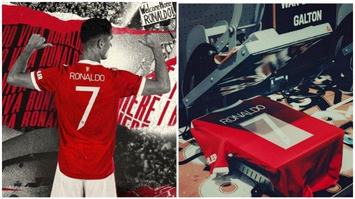 Cristiano Ronaldo resmi gunakan nomor punggung 7 setelah diberikan Edison Cavani