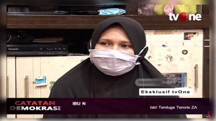 CERITA Perempuan Inisial N, Istri Terduga Teroris ZA, Ungkap Kelakuan Suaminya: Saya Enggak Percaya
