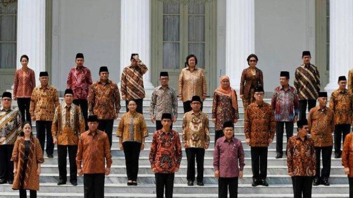 Viral, Daftar Menteri Kabinet Kerja Jilid II Ditetapkan Jokowi, Ganjar Pranowo jadi Mendagri