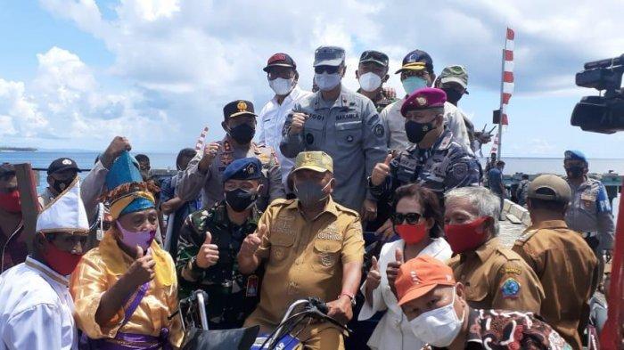 Dampingi Gubernur Sulut ke Talaud, Danlantamal VIII: TNI AL Terus Melaksanakan Giat Patroli Rutin