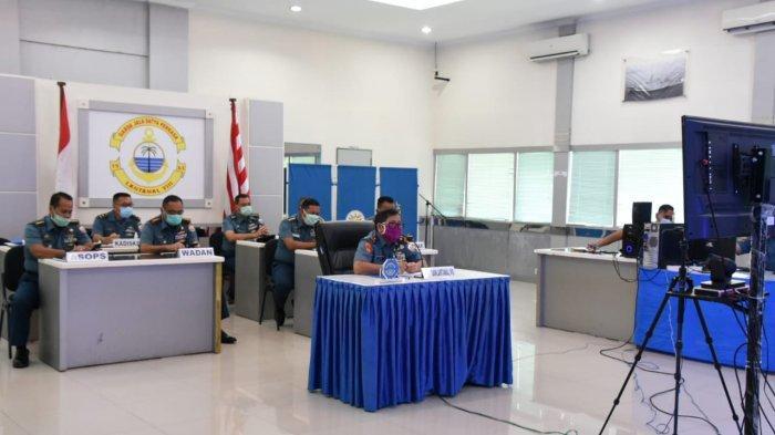 Danlantamal VIII Video Conference bersama Gubernur Sulut Bahas Soal Penyebaran Covid-19