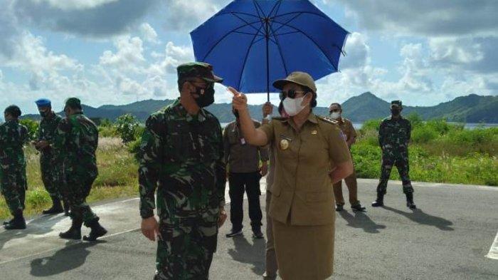 Danlanudsri diterima secara adat di Pelabuhan Ulu Siau Kabupaten Kepulauan Sitaro.