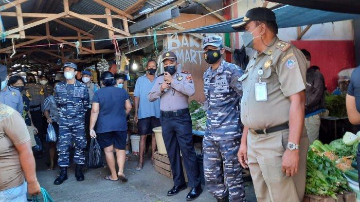 Personel Pos Angkatan Laut Siau Kabupaten Sitaro Gelar Pengawasan PPKM Mikro
