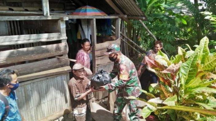 Koramil Pinolosian Salurkan Bantuan Pangdam XIII/Merdeka ke Warga