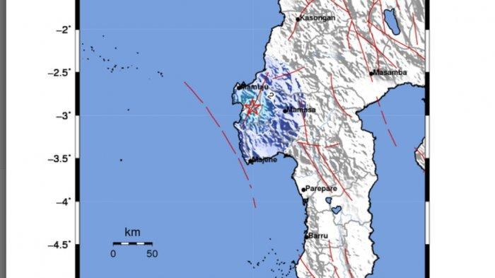Gempa Hari Ini di Majene, Berkekuatan 4.2 SR