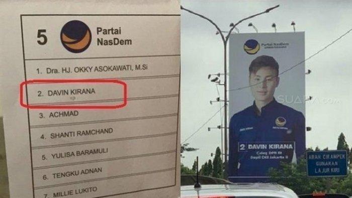 Gemparkan Publik Surat Suaranya Tercoblos, Davin Kirana Caleg DPR RI, Anak Bos Maskapai Penerbangan
