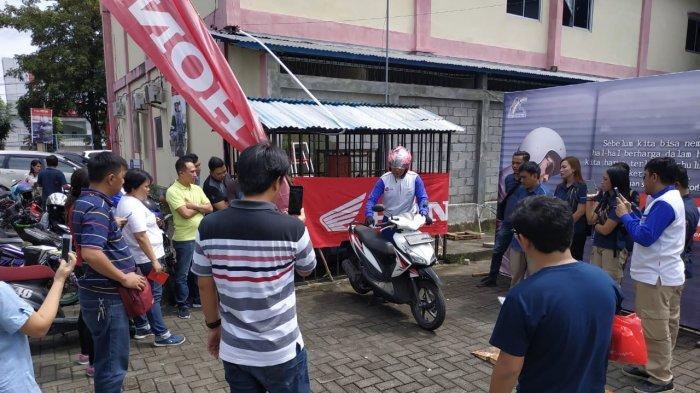 Honda DAW Sosialisasikan 'Safety Riding' ke Karyawan PT Tigaraksa Satria Maumbi