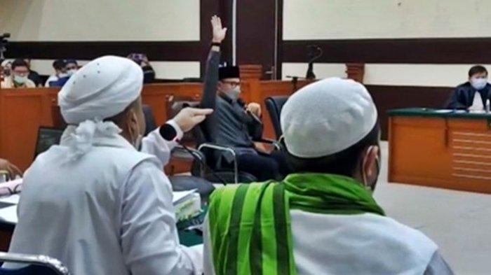 Debat Panas Rizieq Shihab dan Bima Arya saat Sidang Kasus Tes Swab Palsu RS UMMI Bogor di PN Jakarta Timur, Rabu (14/04/1). Kini telah divonis majelis hakim. Sempat anggap Jaksa keras kepala.