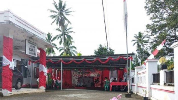 Semarak HUT ke-76 RI, Kantor Kecamatan Ratahan Timur Kabupaten Mitra Dipercatik