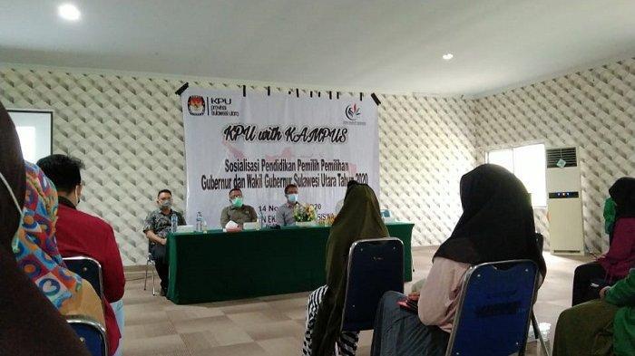 DEMA IAIN Manado gelar Kerjasama Dengan KPU Provinsi Sulut Gelar Sosialisasi