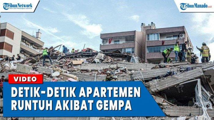 VIDEO Detik-Detik Gedung Apartemen Runtuh Akibat Gempa di Turki