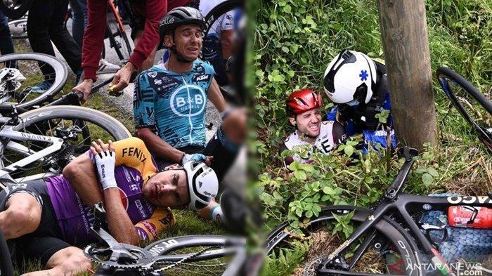 Detik-detik Kecelakaan Massal di Balap Tour de France, Ulah Penonton yang Selfie di Lintasan