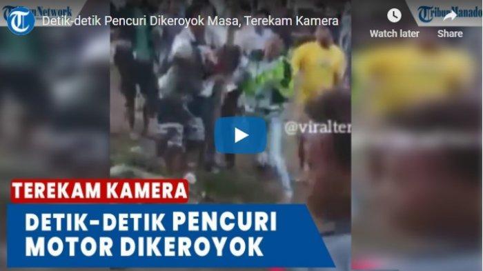 VIDEO Detik-detik Pencuri Dikeroyok Massa