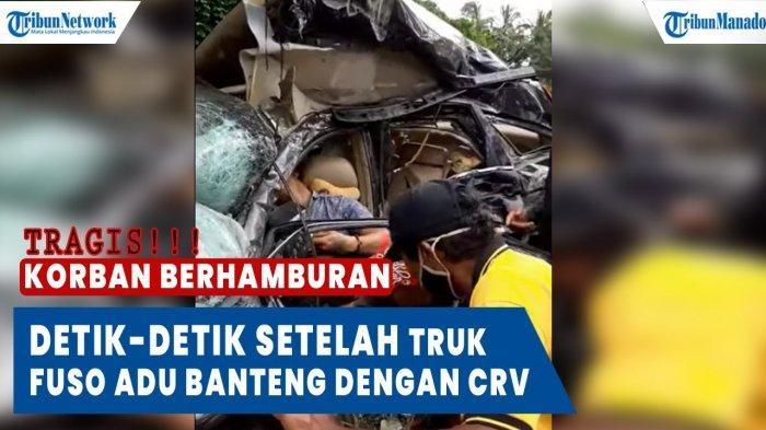 VIDEO Detik-detik Setelah Truk Fuso Adu Banteng dengan CRV, Sejumlah Penumpang Tak Tertolong