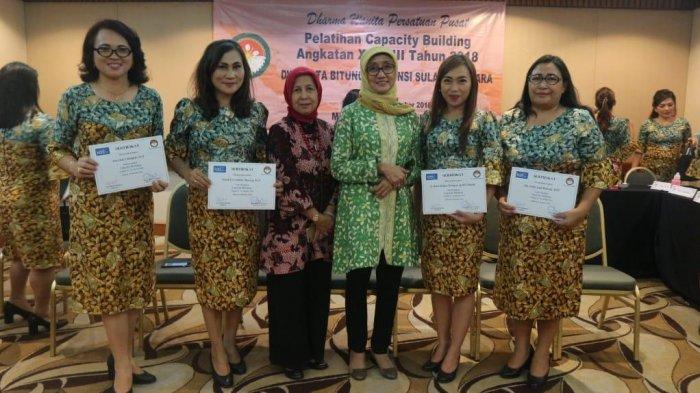 Dharma Wanita Persatuan Kota Bitung Ikuti Capasity Building Angkatan XXVIII