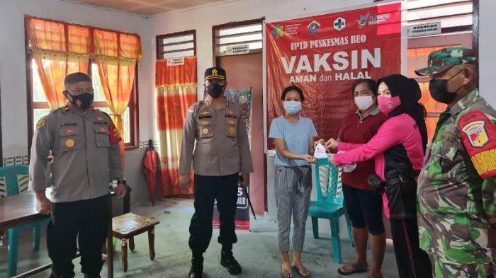 Polres Talaud Gelar Vaksin Massal Dalam Rangka Hari Bhayangkara ke-75, Sediakan 400 Dosis