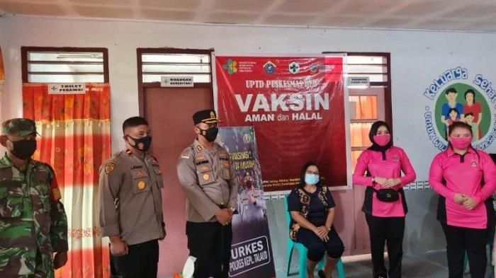 Di Kabupaten Talaud vaksinasi dilaksanakn di Pelabuhan Melonguane dan Beo, Sabtu (26/6/2021).