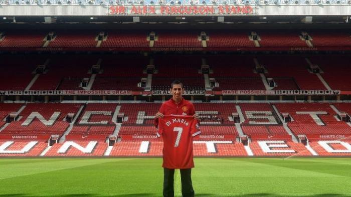 Gelandang anyar Manchester United, Angel Di Maria.
