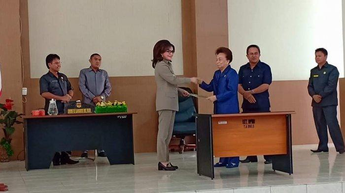 Di Rapat Paripurna DPRD Minsel, Bupati Paruntu Sampaikan LKPJ Akhir Tahun 2018