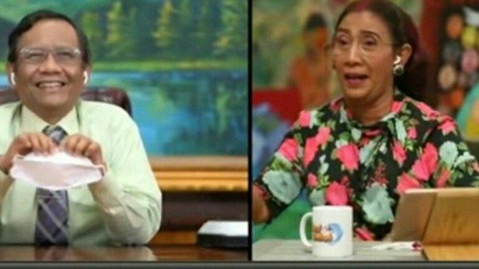 Susi Pudjiastuti tegur Mahfud MD karema disebut Menteri KKP di Susi Cek Ombak Metro TV