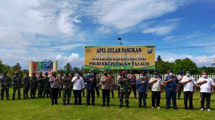 Polres Kepulauan Talaud Apel Gelar Pasukan Operasi Ketupat Samrat 2021