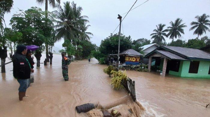 Diguyur Hujan Deras, Sejumlah Desa di Bolmut Terendam Banjir, BPBD Imbau Warga Waspada Bencana Alam