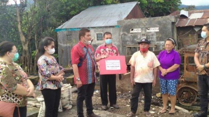 Pemkab Minahasa Tenggara Bantu Korban Kebakaran