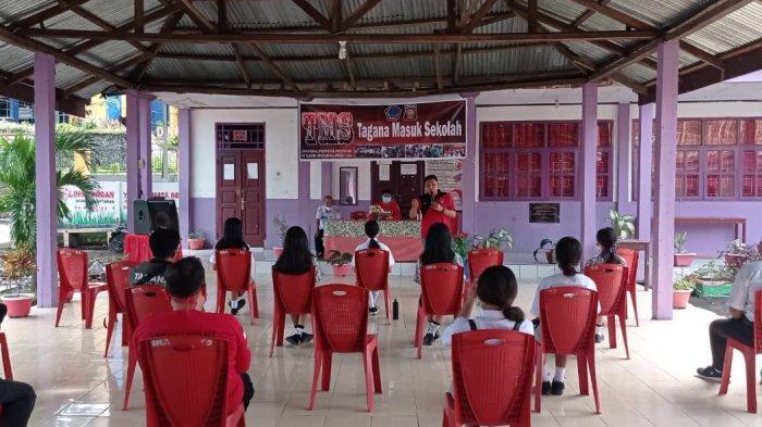Dinsos Sulut Gelar Tagana Masuk Sekolah di Kota Bitung