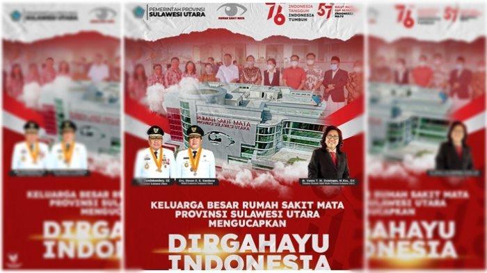 Keluarga Besar Rumah Sakit Mata Provinsi Sulut Mengucapkan Dirgahayu Indonesia