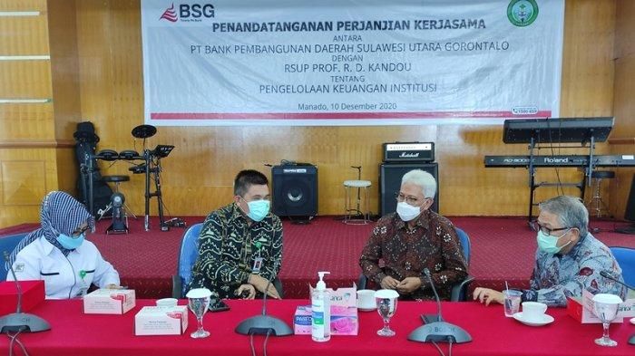 Percayakan Pengelolaan Keuangan ke Bank SulutGo, Ini Harapan Dirut RSUP Kandou Manado