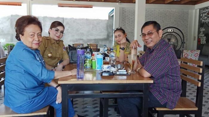 Tetty Paruntu Diskusikan Pembangunan Kabupaten dengan Mantan Penjabat Bupati Minsel Rene Hosang