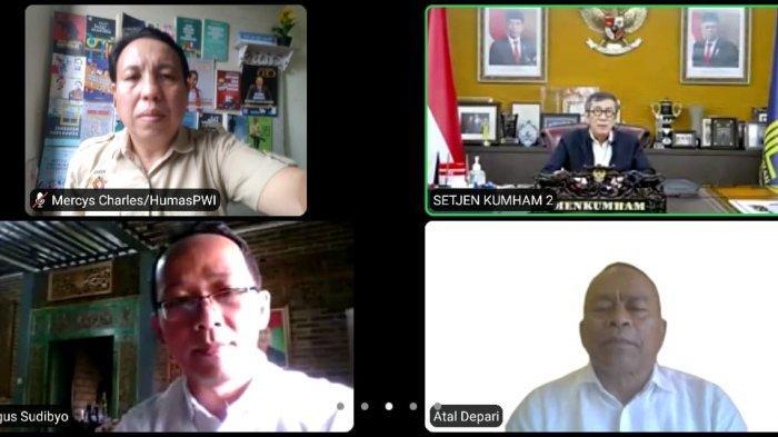 Yasonna: HPN 2021 Momentum Tepat Ingatkan Pers Berkontribusi Menanggulangi Covid-19