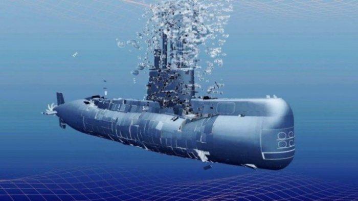 Ilustrasi kapal selam hancur.
