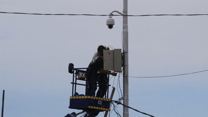 Ditlantas Polda Sulut Mulai Memasang CCTV ETLR Untuk Merekam Para Pelanggar Lalu Lintas
