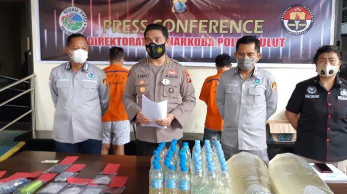 Polda Sulut Gagalkan Penyelundupan Ribuan Liter Cap Tikus