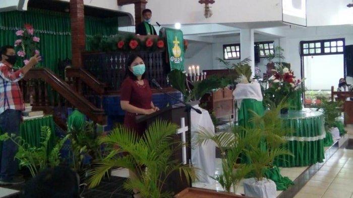 Ikut Ibadah di Jemaat Dame Tosuraya, DLR Berikan Pesan di Tatanan New Normal