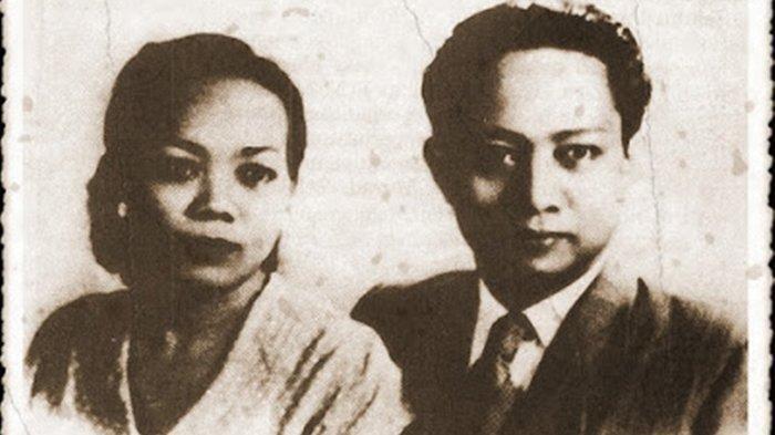 DN Aidit bersama istrinya, <a href='https://manado.tribunnews.com/tag/soetanti' title='Soetanti'>Soetanti</a>.