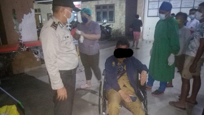 Kecelakaan Lalu Lintas Tadi Subuh, Korban Laki-laki Berseragam PNS, Diduga Laka Tunggal