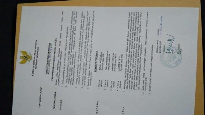 Surat Perintah Penyidikan (Sprindik) yang beredar terkait kasus pengadaan alat rapid oleh KPK adalah hoaks atau palsu.