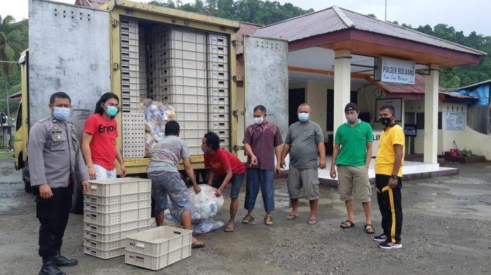 Polres Bolmong Amankan Puluhan Liter Miras yang Hendak Dibawa ke Sulsel