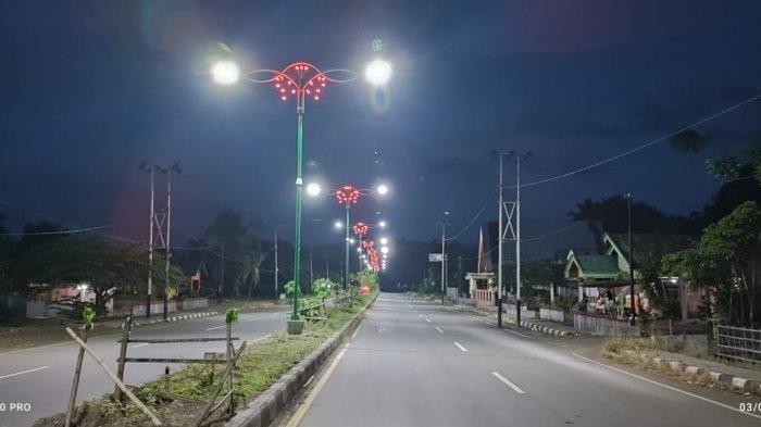 Warga Apresiasi Penerangan di Jalan Pusat Kabupaten Bolmong