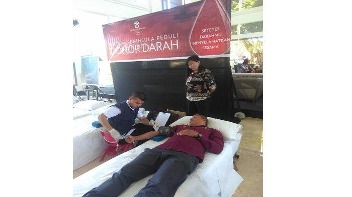 Sintesa Peninsula Hotel Peduli Sesama Gelar Aksi Donor Darah