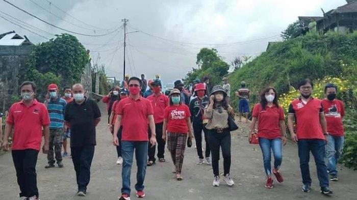 Sambangi Korban Terdampak Angin Puting Beliung Desa Tumaluntung, PDIP Minsel Salurkan Bantuan