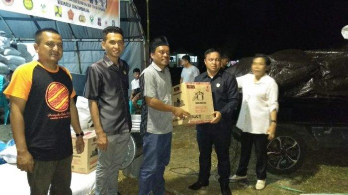 DPRD Bolmong Serahkan Bantuan Pada Korban Bencana Banjir Bandang