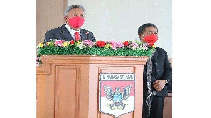 DPRD Minsel Gelar Rapat Paripurna Pidato Bupati Franky Wongkar