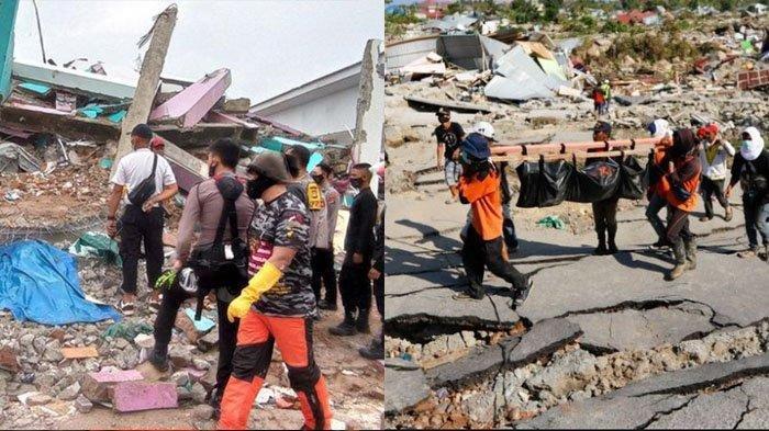 FOTO ILUSTRASI - Dua bencana gempa bumi merusak di Indonesia. Peneliti LIPI Eko Yulianto menyebut bencana gempa bumi yang merusak cenderung muncul tiap 5,6 bulan di Indonesia.