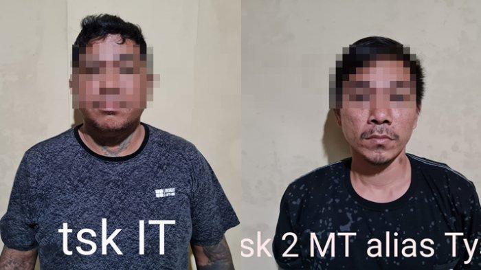 dua terduga TSK penganiayaan ke korban anggota TNI AD