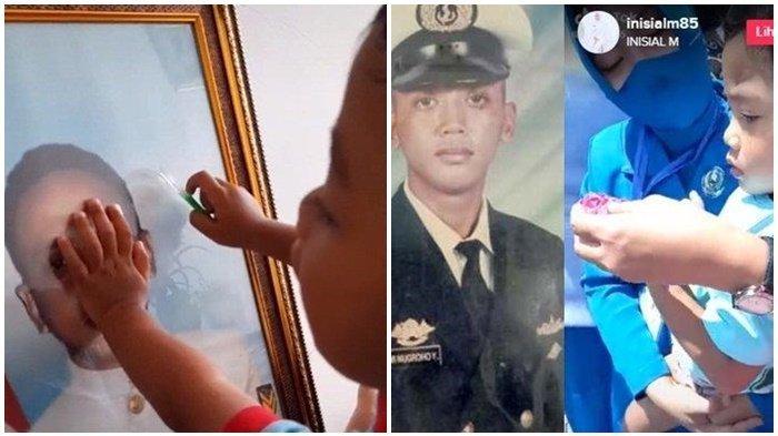 Anak Awak KRI Nanggala 402 Rindu dan Terus Memandangi Foto Ayahnya, Ibunya Belajar Mengikhlaskan